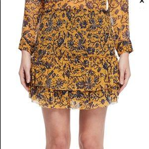 Étoile Isabel Marant Brinley Yellow Skirt sz 4